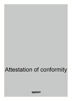 attestation of conformity