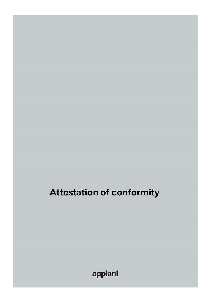 attestation of conformity